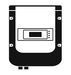 electric counter icon simple style vector image