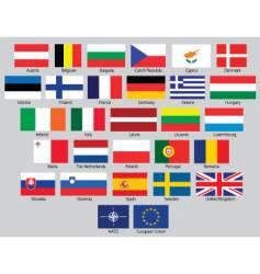 EU flags vector