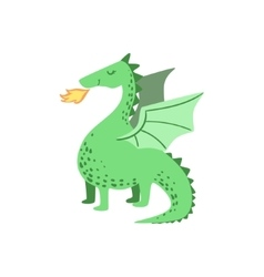 Fairytale Dragon Drawing vector