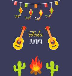 Festivals in brazil festa junina celebration vector