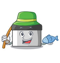 Fishing pastry scraper on wooden mascot table vector