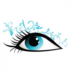 floral eye design vector image