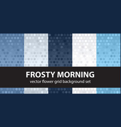 Flower pattern set frosty morning seamless vector