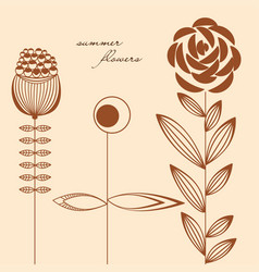 flowers design elements vector image
