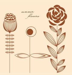 flowers design elements vector image