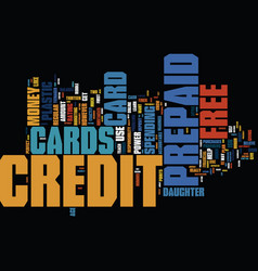Free prepaid credit cards friendly plastic for vector