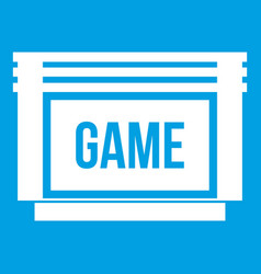 Game cartridge icon white vector