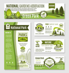 gardening or green nature company templates vector image