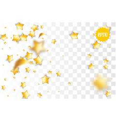 golden holiday star confetti random falling vector image