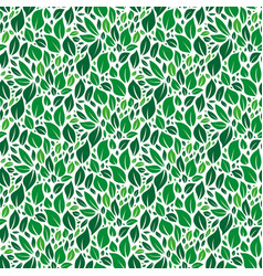 green leafs seamless pattern vector image