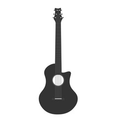 Guitar icon logo flat music vector