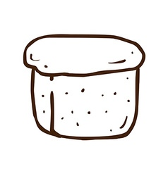 Hand Drawn Loaf of Bread vector