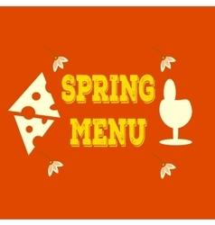 Hand-sketched elements Spring menu Veggie vector