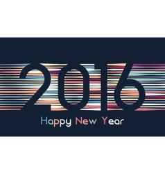 Happy new 2016 year Colorful design in line vector image