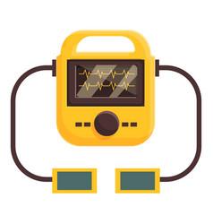 Heart defibrillator icon cartoon style vector