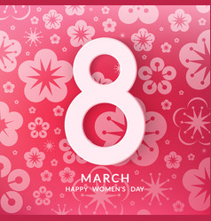 International womens day greeting card vector