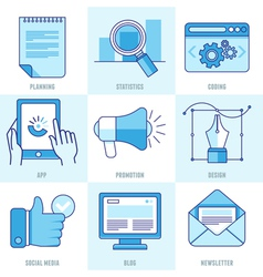 internet business infographic design elements vector image vector image