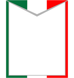 Italian abstract flag frame vector