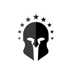 Knights helmets with star vector