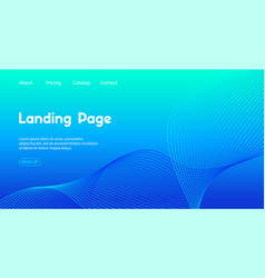 landing page template abstract blue vector image