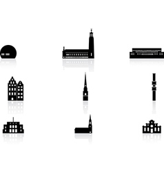 Landmark icons - Stockholm vector image
