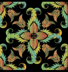 leafy colorful tropical seamless pattern exotic vector image