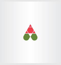 letter a symbol element design logotype vector image
