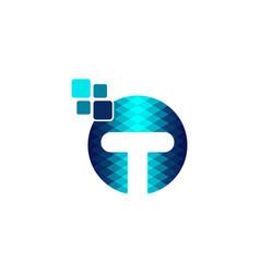 letter t digital logo designs inspiration vector image