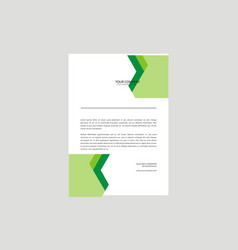 letterhead design template vector image