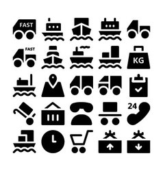 Logistics delivery Icons 1 vector image