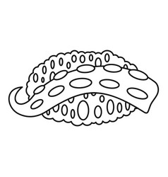 octopus sushi icon outline style vector image