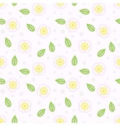 Pattern with stylized sakura flowers vector