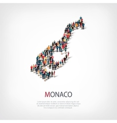People map country Monaco vector