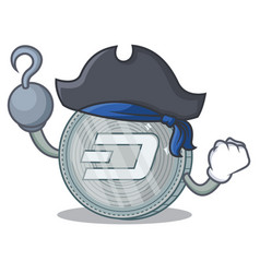 Pirate dash coin character cartoon vector