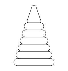 Pyramid toy icon outline style vector