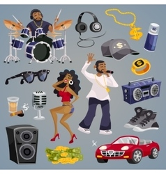 Rap Music Elements vector image