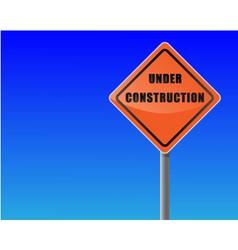 Roadsign under construction sky background vector vector