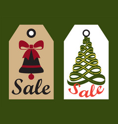Sale advertisement ready to use hang labels trees vector