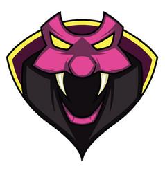snake logo for gaming on white background vector image