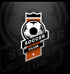 Soccer club logo on a dark background vector