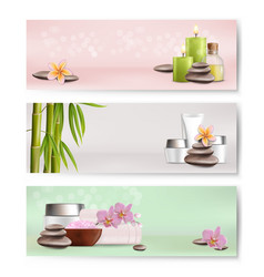 Spa salon services banner template set vector