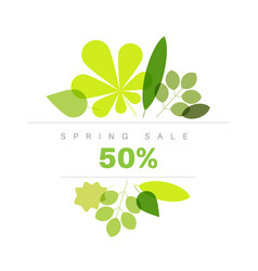 spring abstract floral background sale label vector image