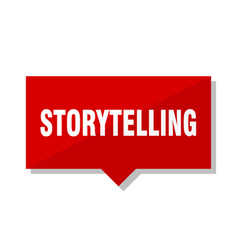 Storytelling red tag vector
