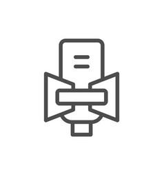 studio microphone line icon vector image