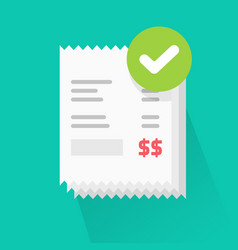 Success verified paid bills receipts with approved vector
