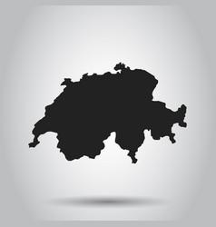 switzerland map black icon on white background vector image