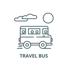 travel bus line icon linear concept vector image