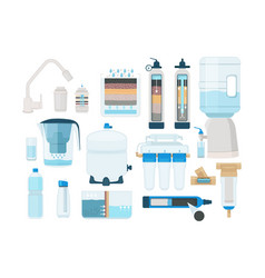 treatments water home systems for fresh liquid vector image