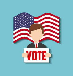 us presidential voting concept vector image