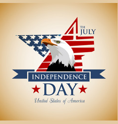 usa independence day 4th july vector image